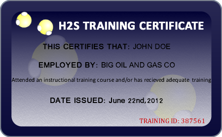 h2s certification card template - rapid h2s training the best in lifesaving h2s training